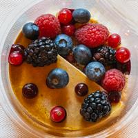 crème brûlée | cicoria | frutti di bosco