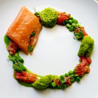salmone | piselli | pompelmo